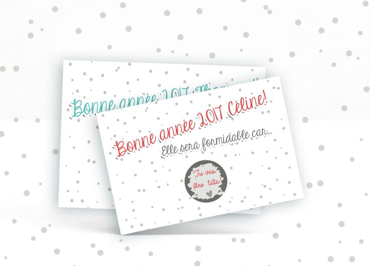 Carte à gratter personnalisable  Bonne année !- annonce grossesse , heureux évènement, demande à la marraine, au parrain