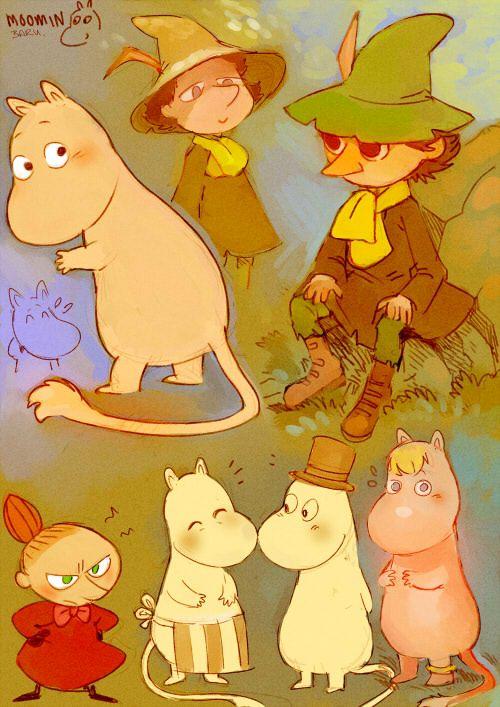 The moomins by Barukurii