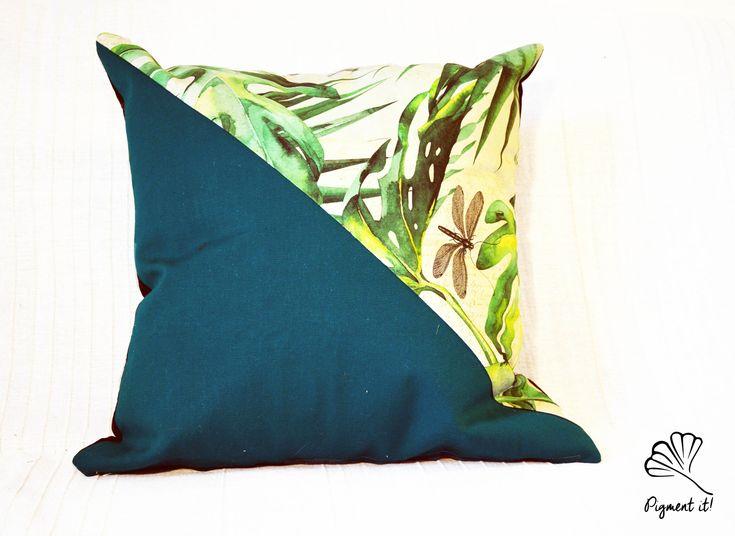 Housse, Coussin - Tropical leaf - Pillow - de la boutique Pigment it! sur Etsy