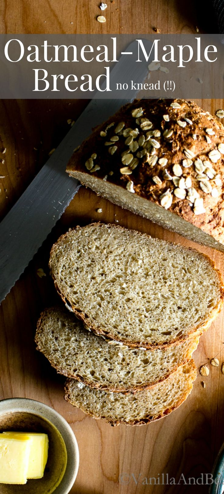A sturdy, chewy bread with a hearty crumb; Oatmeal-Maple Bread comes from Alexandra Stafford's debut cookbook Bread Toast Crumbs. vegetarian or vegan