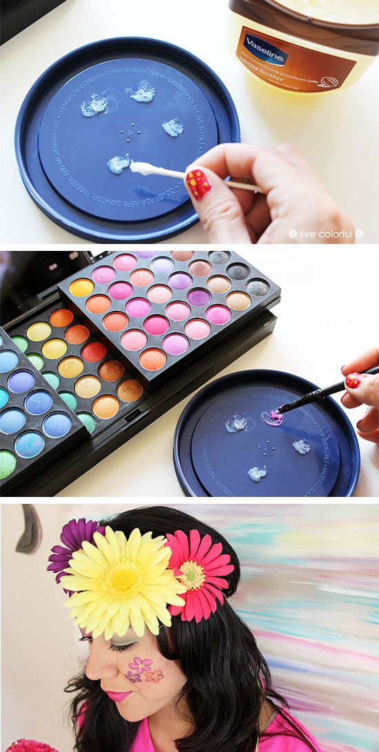 DIY: How to Make Homemade Face Paint. This is perfect for Halloween costumes! | Live Colorful