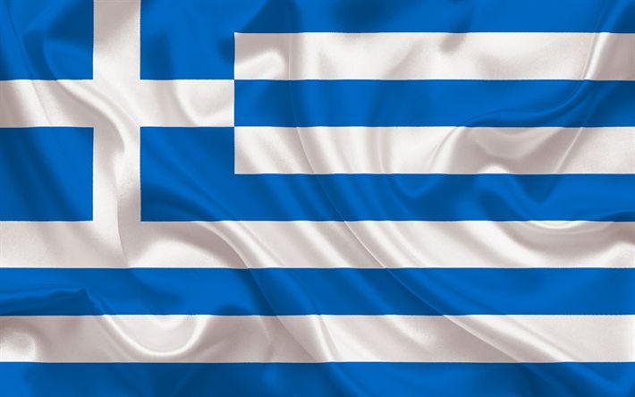 Download wallpapers Greek flag, Europe, Greece, flag of Greece