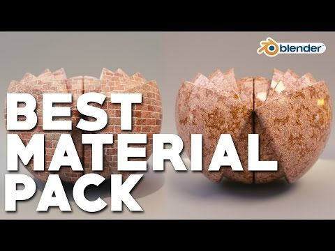 The BEST Blender Material Pack | ONELVXE Material Pipeline - YouTube