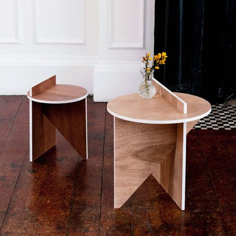 Intersecting planes side tables by BCXSY