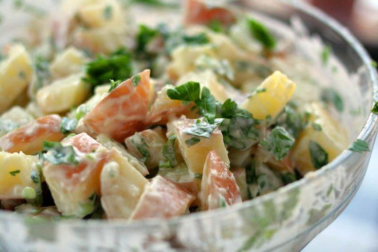 Cafe Liz | Garlicky potato salad | the kosher vegetarian Israeli food blog