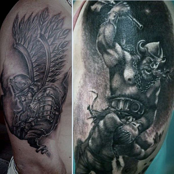 29 best viking warrior tattoo images on pinterest viking warrior tattoos viking tattoos and. Black Bedroom Furniture Sets. Home Design Ideas