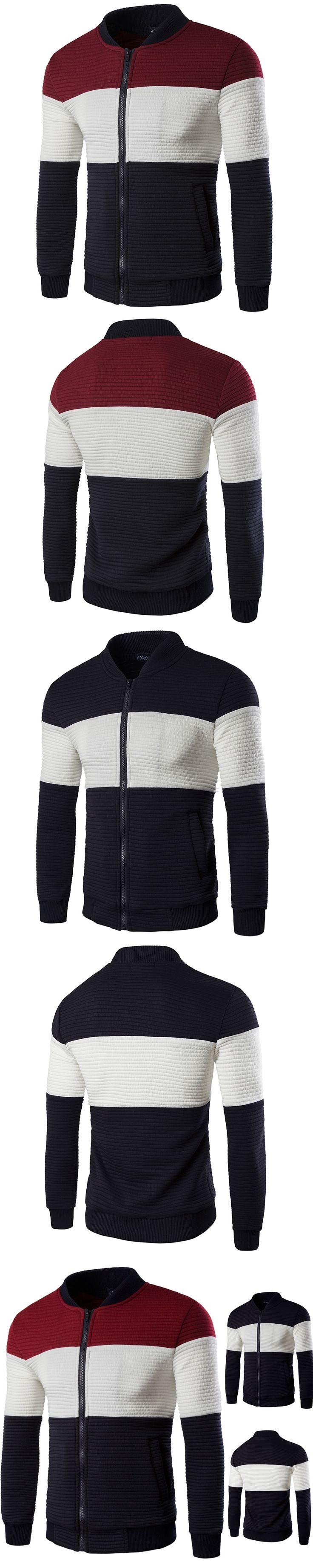 jackets men Spring Autumn New Fashion winter jacket men Casual Cardigan bomber jacket Men's striped jacket zipper placket