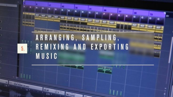 How to arrange, sample, remix and export a music track | Make music with...