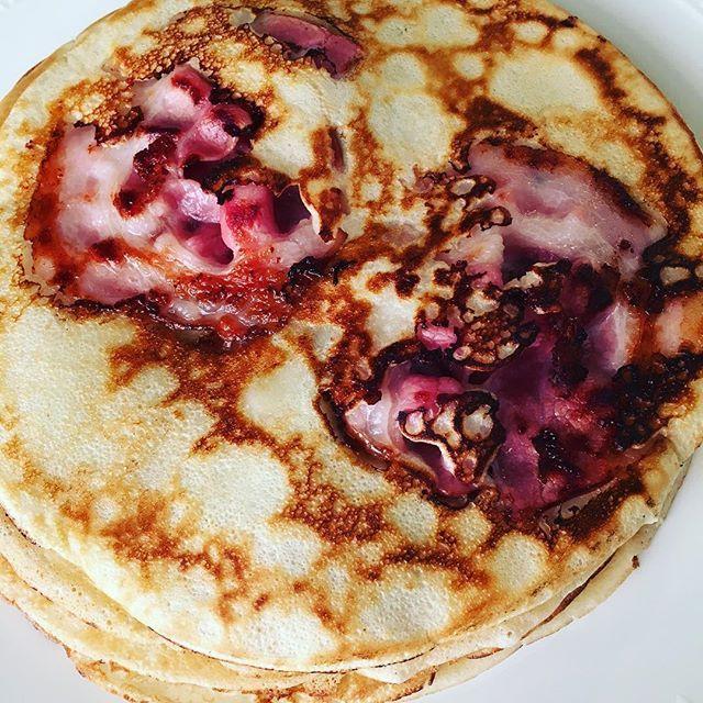Pannenkoeken met spek! | #pannenkoeken #pannekoeken #pancakes