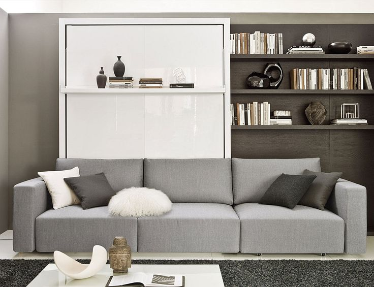 Swing Murphy bed with sofa offers ample comfort Transformable Murphy Bed Over Sofa Systems That Save Up On Ample Space