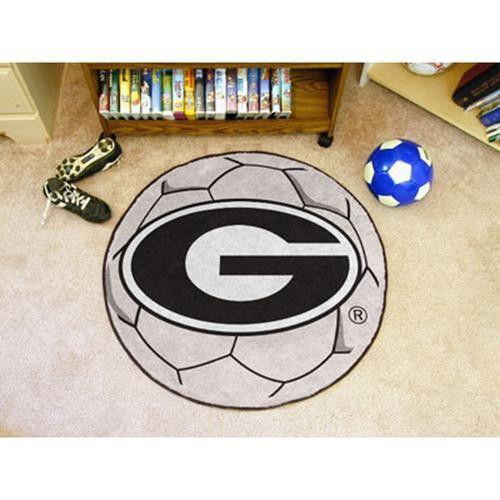 Georgia Bulldogs NCAA Soccer Ball Round Floor Mat (29)