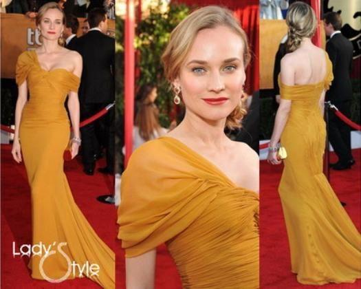 Диана крюгер в желтом платье