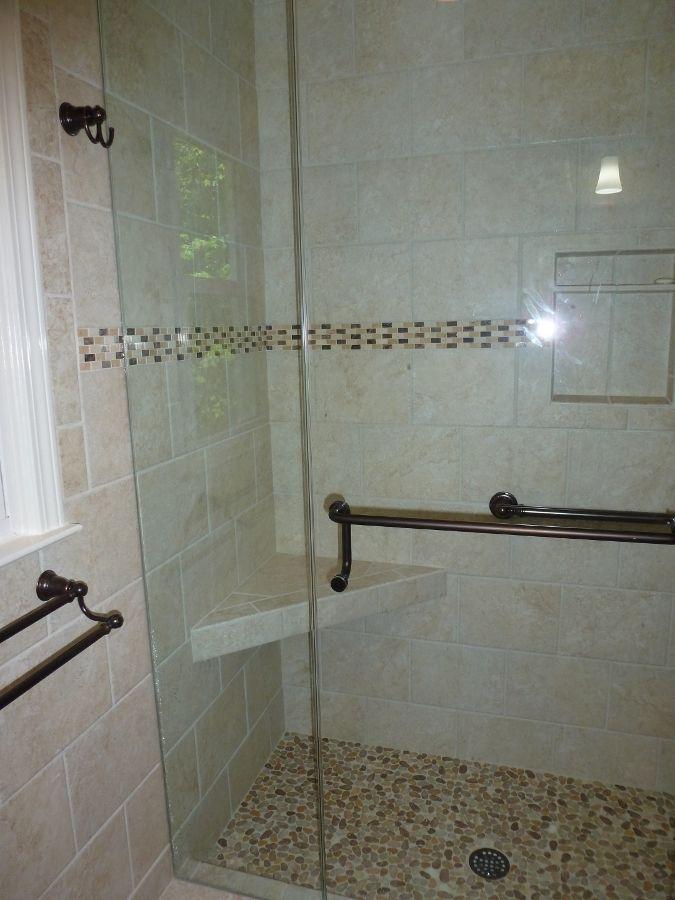 Mohawk tile delanova 9x12 color chiara cream with for 9x12 bathroom design