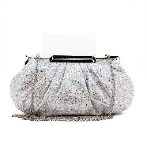 KIKI clutch in silver/multi. #mybetsonBetts #BettsRaceDayReady #BettsShoes