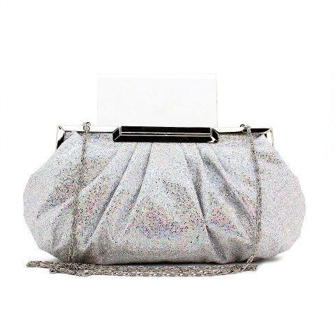 KIKI clutch in silver/multi. #mybetsonBetts #BettsRaceDayReady #BettsShoes