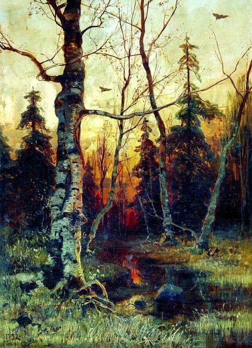 КЛЕВЕР Юлий - Пейзаж. 1892. 900 Картин самых известных русских художников