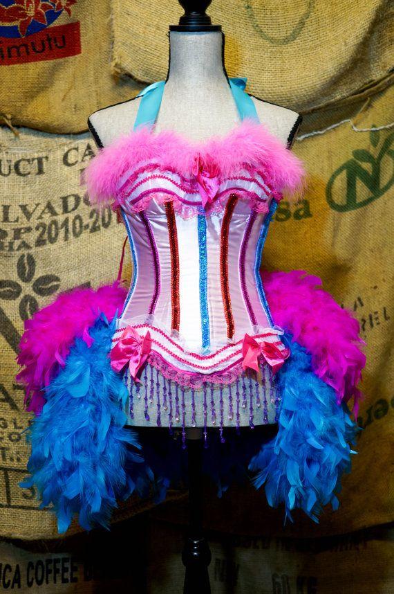 BELLE EPOQUE Pink Burlesque Costume Corset dress for by olgaitaly- Great for Cirque du TuTu!