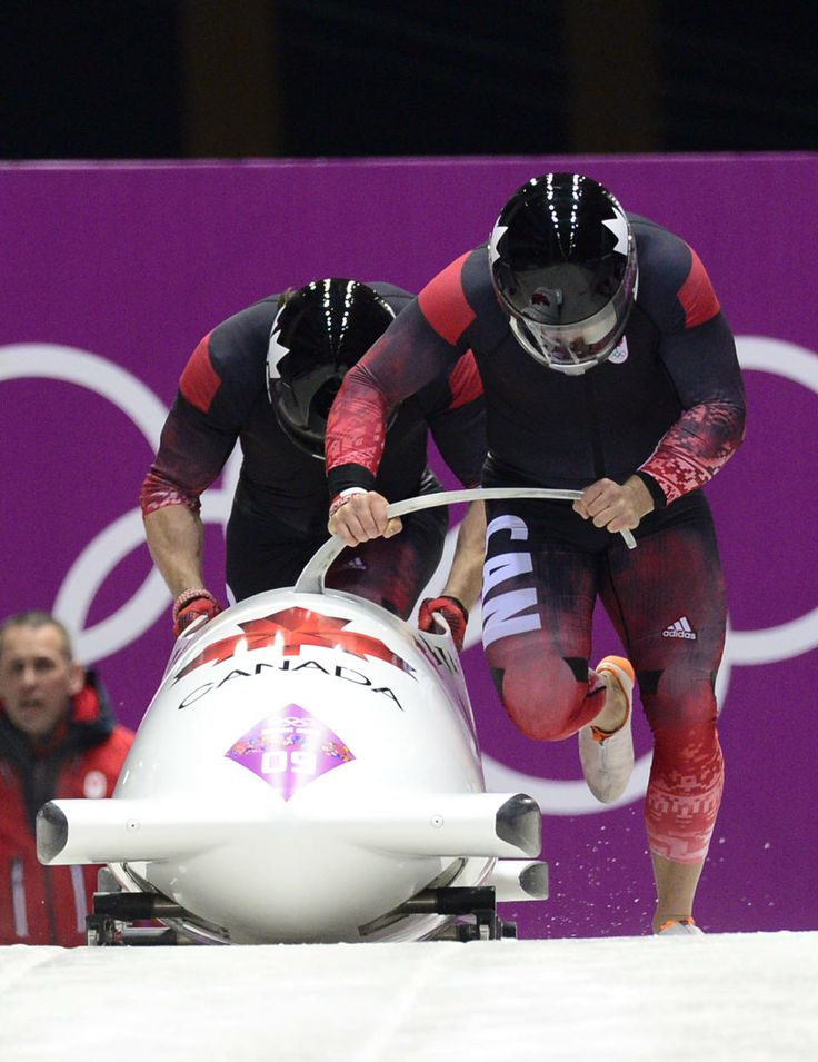 DAY 9:  Team Canada-2 piloted by Chris Spring with brakeman Jesse Lumsden compete during Bobsleigh Men's Two-Man http://sports.yahoo.com/olympics