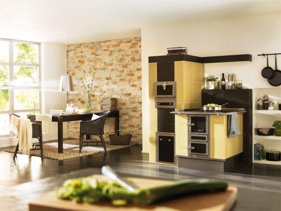 Bucatarie Moderna Cu Soba Teracota Cu Plita Si Cuptor My Dream Home Home Kitchen Appliances