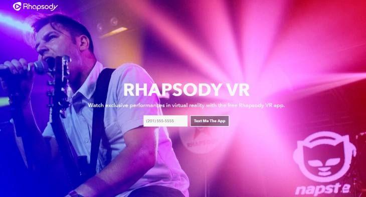 #Ocio #Internet #realidad_virtual Rhapsody presenta su aplicación de realidad virtual