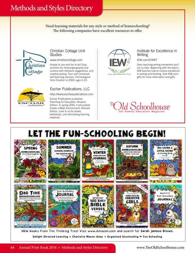 64 best directories images on pinterest homeschool the old schoolhouse magazine annual 2016 page 64 fandeluxe Image collections