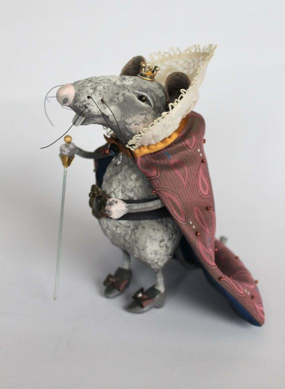 OOAK The Mouse King art doll Papier mache by ArtDollsByJelena