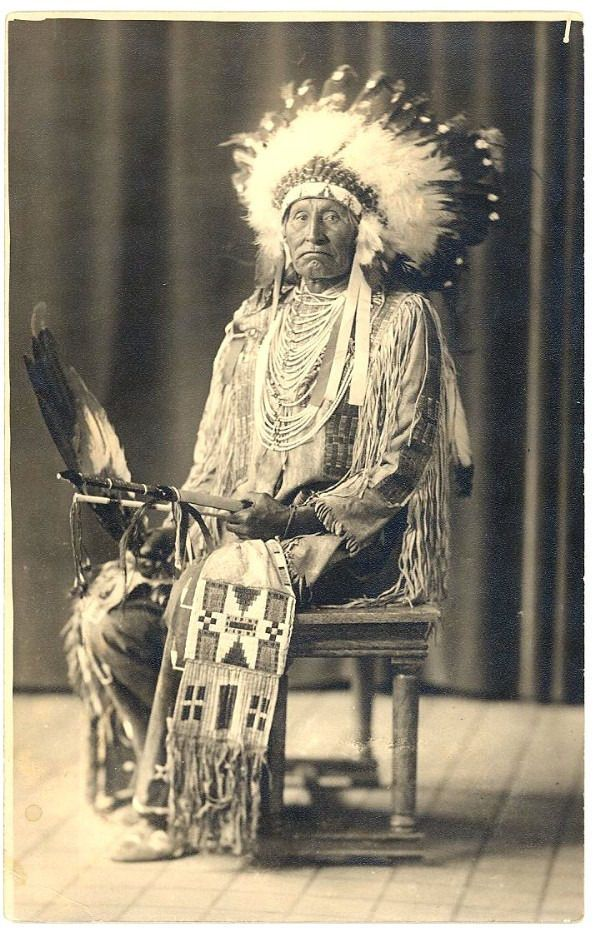 A Native American Map%0A SIOUX Chief RED TOMAHAWK  Indian Policeman Who Killed Sitting Bull