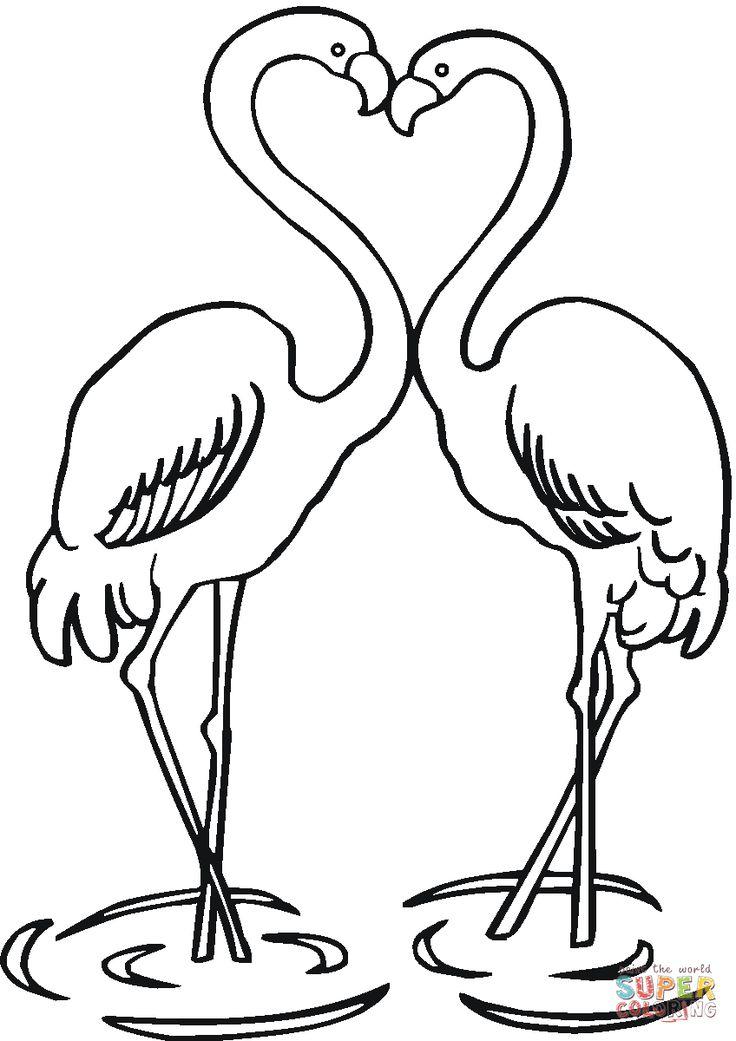 kleurplaten flamingos Google zoeken DIY Flamingo