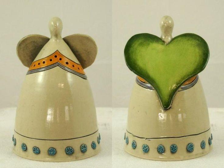 Engel van Elza van Dijk, Pretoria, Zuid Afrika. design, fairtrade, eerlijk, mooi, kado, cadeau, geschenk, exclusief, aardewerk, ceramics, decoratie, kaars, waxine