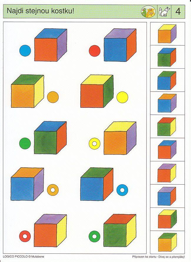 LOGICO PICCOLO   Logické myšlení   Dívej se a přemýšlej   Didaktické pomůcky a hračky - AMOSEK
