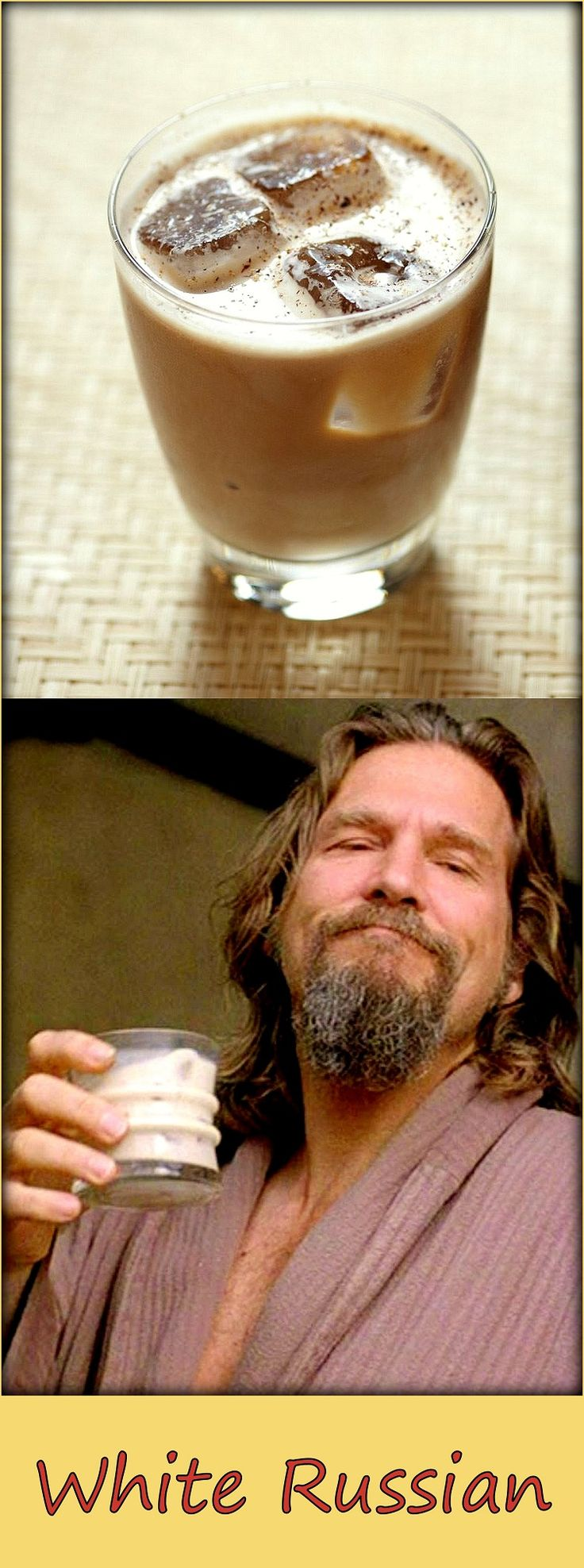 image source: http://www.kung-food.it/ricette-dei-film/white-russian-de-il-grande-lebowski/709/ The Big… White Russian Ingredients 2 parts Vodka 1 part Kahlua coffee liqueur 1 part cream ice cubes . Preparation Add the ingredients in an old fashioned glass, garnish and serve Related posts: B-52 White Lady Irish Coffee Brandy Alexander Old Fashioned