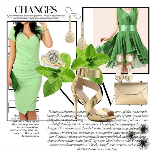 """Elegant Green"" by siempreguapaconnormacano on Polyvore"