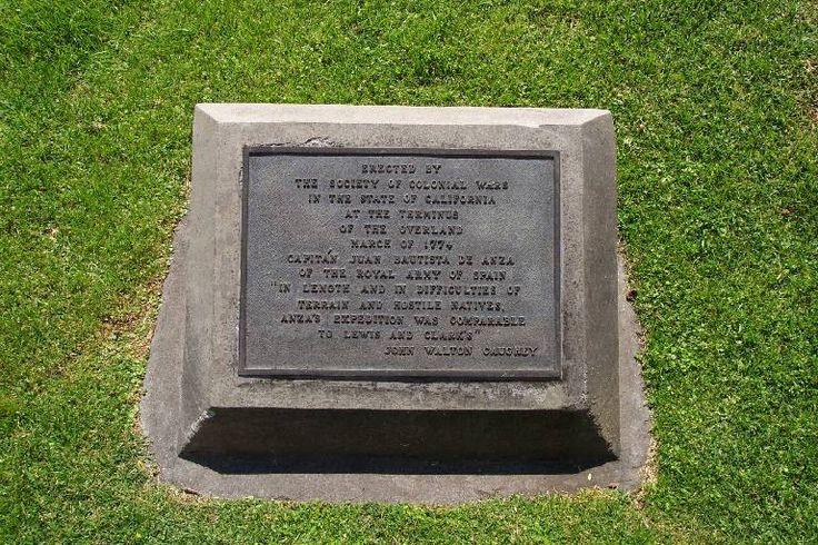 De Anza expedition plaque Gabriel, San, Whittier