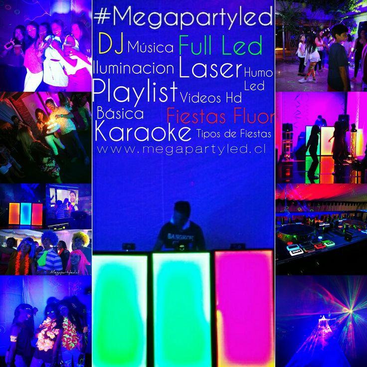 Megapartyled.cl Fiestas Basica, full,fluor,Disco