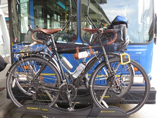Here In Vancouver You Can Put Your Bike On The Bus Along With
