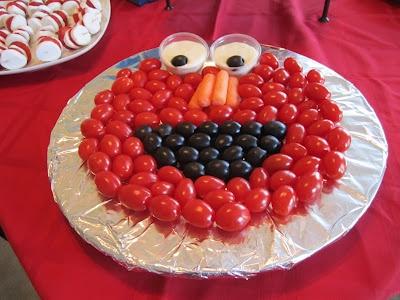 Elmo Veggie Tray For Toddler Party Birthday Food IdeasElmo