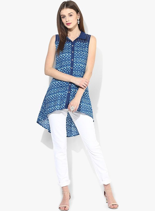 Best 25+ Kurti with jeans ideas on Pinterest | Jeans kurti Long kurti with jeans and Short ...