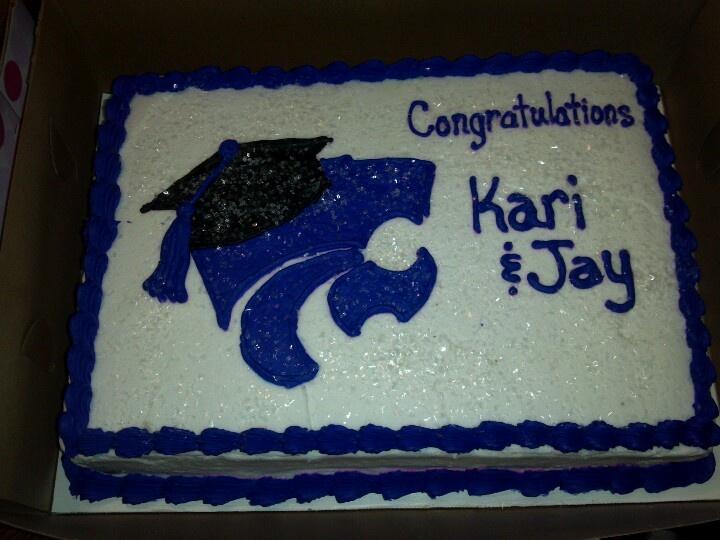 K State Graduation Cake Cakes Kansas State