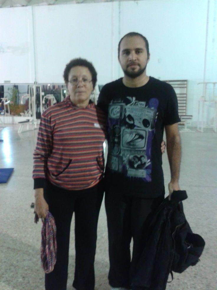 Con Nicolás Aybar, uno de los directores de la Escuela de Danza Cubana OKAN-MI (2014)