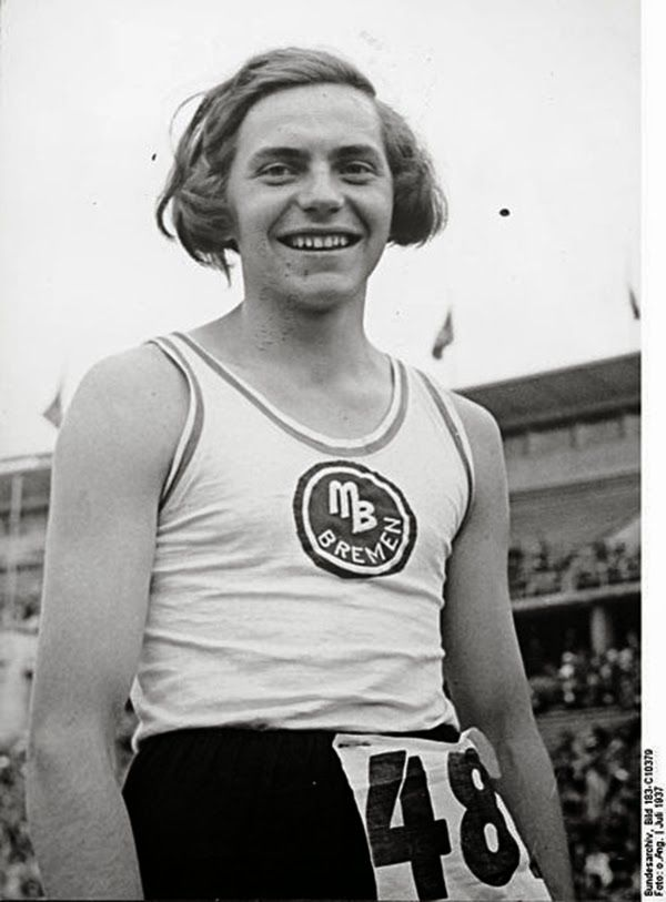 1938: Dora Ratjen, German Olympic athlete, who was arrested at a train station, they thought it was a guy in a dress