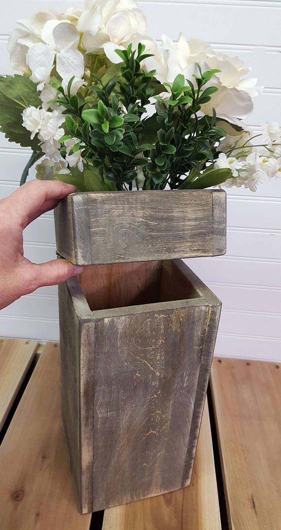 Farmhouse storage box Rustic bathroom storage box Wood