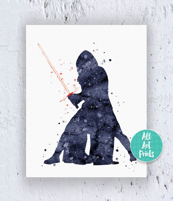 25% OFF: Kylo Ren Star Wars Poster Star Wars Print Star Wars Printable Star Wars Art Star Wars Decor Watercolor Printable Instant Download