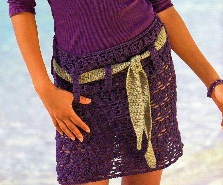 Schemi uncinetto per confezionare una minigonna a vita bassa