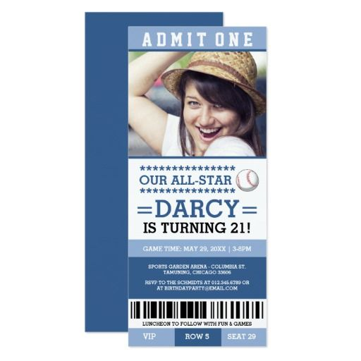 421 best baseball birthday party invitations images on pinterest shop blue baseball ticket birthday invites created by renimasa stopboris Gallery