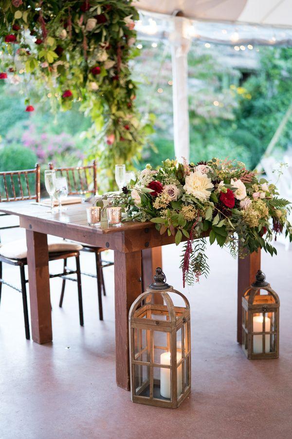 Wedding Reception At In 2020 Head Table Wedding Farm Table