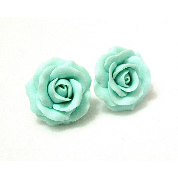 Set Mint Green Rose Necklace and Earrings, Mint Green Flower Necklace,... ($35) ❤ liked on Polyvore featuring jewelry, earrings, rose jewellery, mint earrings, rose earrings, flower jewellery and earring jewelry