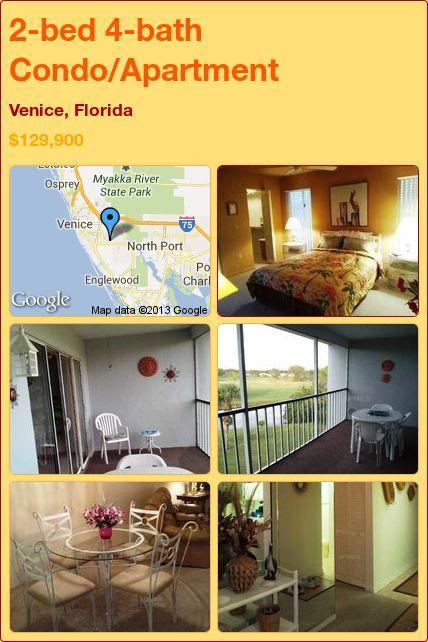 2-bed 4-bath Condo/Apartment in Venice, Florida ►$129,900 #PropertyForSale #RealEstate #Florida http://florida-magic.com/properties/4042-condo-apartment-for-sale-in-venice-florida-with-2-bedroom-4-bathroom