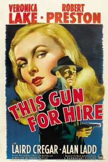 Original Movie Poster for the great Veronica Lake/ Alan Ladd film noir.
