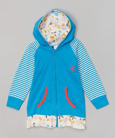 Look what I found on #zulily! Blue Nautical Organic Zip-Up Hoodie - Infant, Toddler & Girls #zulilyfinds