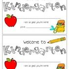 Welcome to Kindergarten Certificate. Leave these out for your kids on the first day of school or open house. Clipart from KPMDoodles...